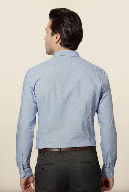 Van Heusen Blue Cotton Formal Shirt