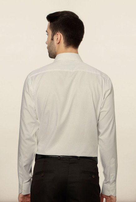 Van Heusen White Striped Formal Shirt