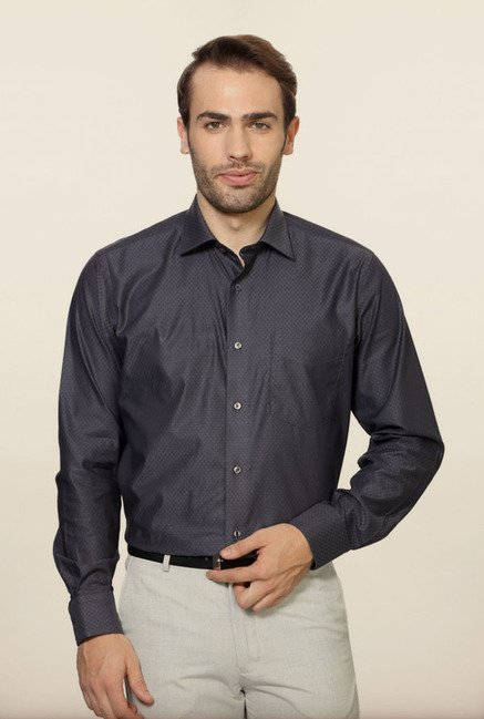Van Heusen Black Formal Shirt