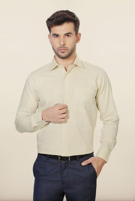 Van Heusen Cream Formal Shirt