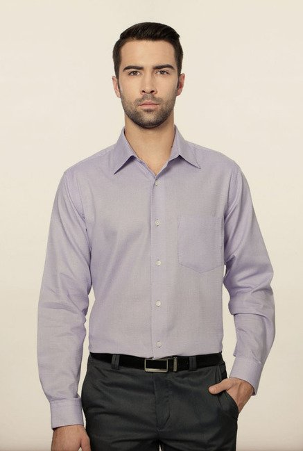 Allen Solly Purple Self Print Formal Shirt