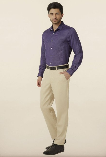 Peter England Navy Formal Shirt