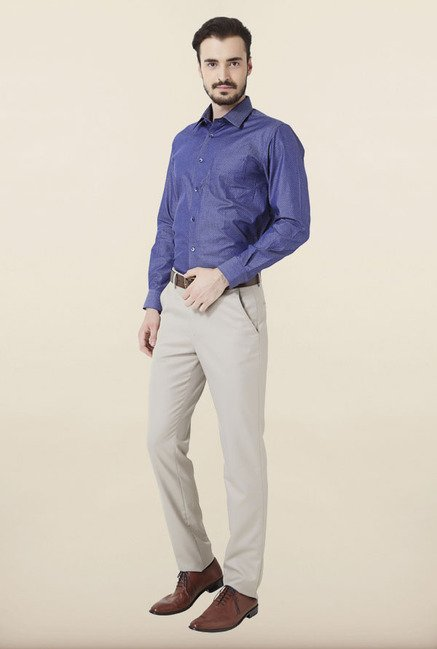 Peter England Dark Blue Formal Shirt