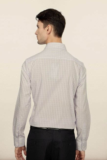 Peter England Purple Checks Formal Shirt