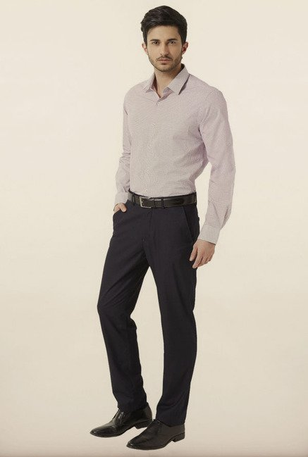 Peter England Lilac Printed Formal Shirt