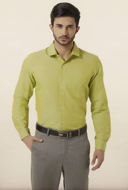Peter England Green Formal Shirt