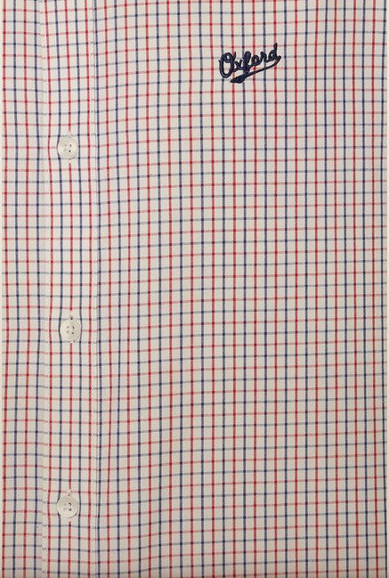 University of Oxford Red & Blue Checks Formal Shirt