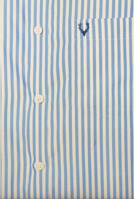 Allen Solly Blue Striped Formal Shirt