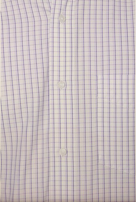 Van Heusen Lilac Checks Formal Shirt