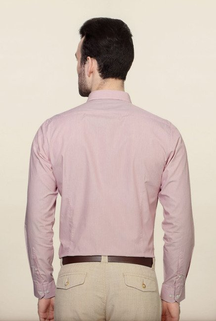 Van Heusen Pink Striped Formal Shirt