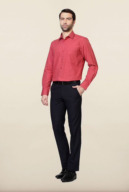 Peter England Red Formal Shirt