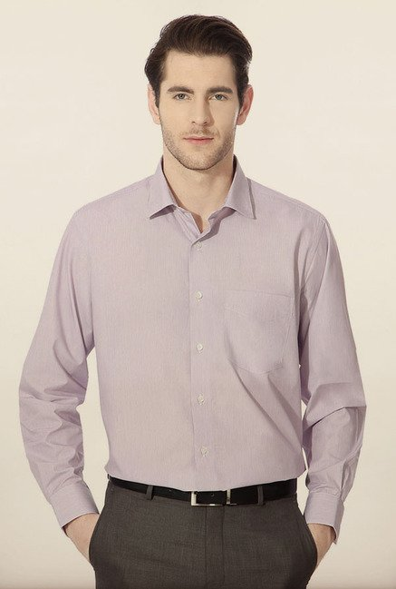 Van Heusen Purple Pin Striped Formal Shirt
