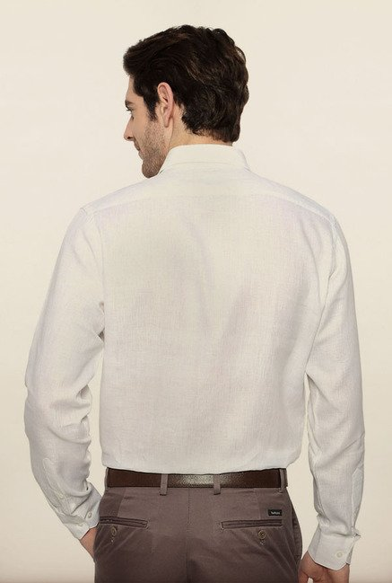 Van Heusen White Linen Formal Shirt