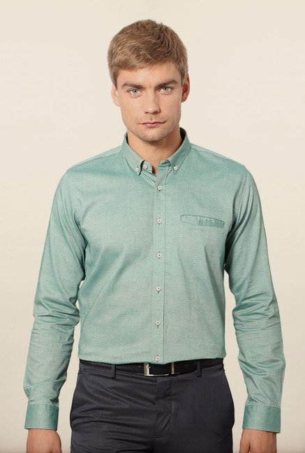 Van Heusen Green Formal Shirt
