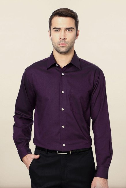 Allen Solly Purple Formal Shirt