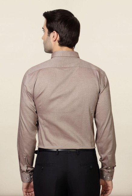 Van Heusen Brown Formal Shirt