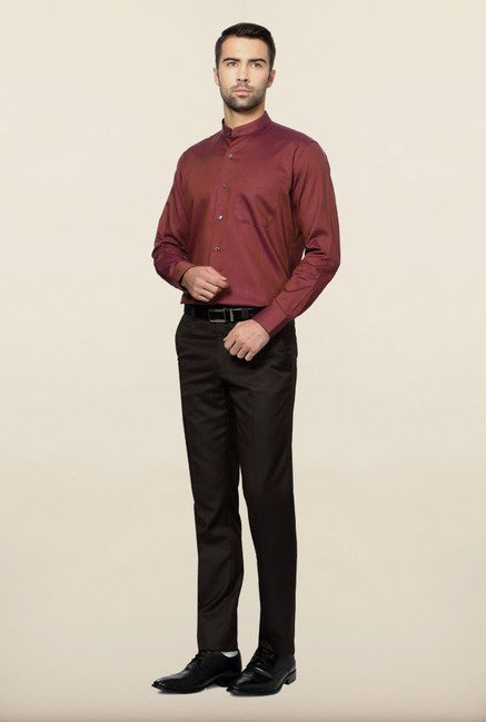 Van Heusen Maroon Formal Shirt