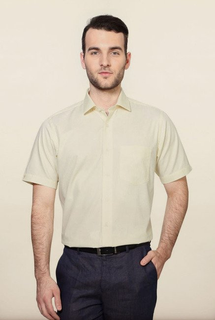 Van Heusen Yellow Formal Shirt