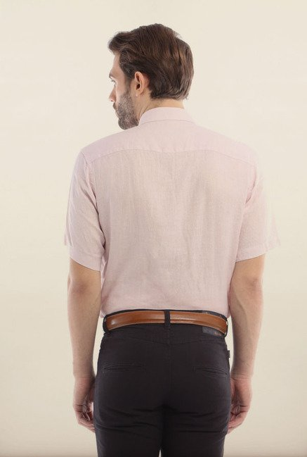 Allen Solly Pink Formal Shirt