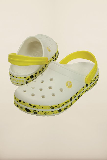 Crocs Crocband Fruit White Clogs