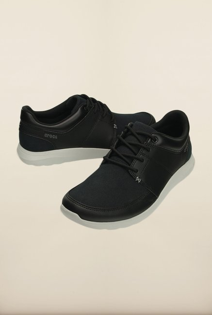 Crocs Kinsale Black & White Casual Shoes