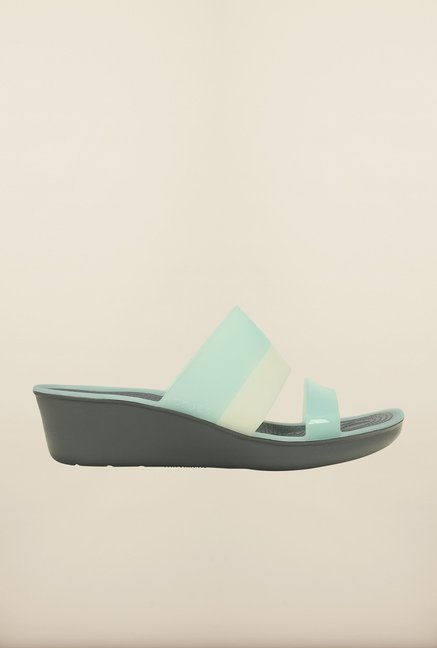 Crocs ColorBlock Sea Foam Wedges