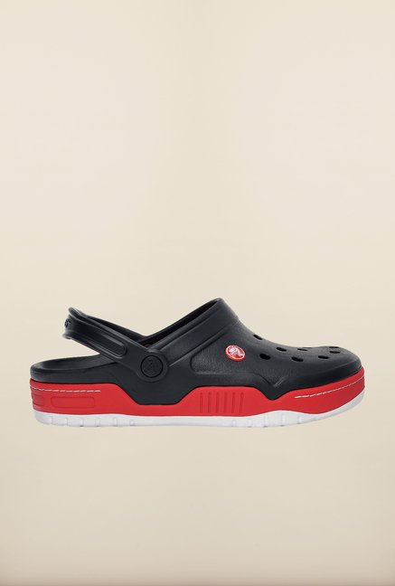 Crocs Front Court Black & Red Clogs