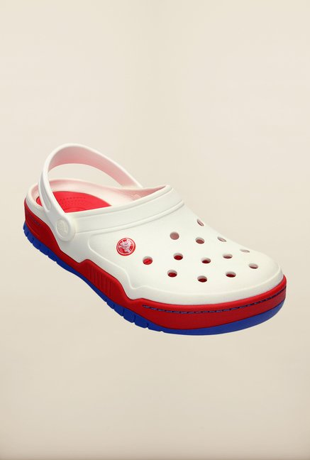 Crocs Front Court White & Red Clogs