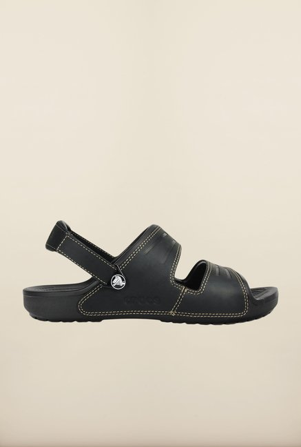 Crocs Yukon Black Floater Sandals