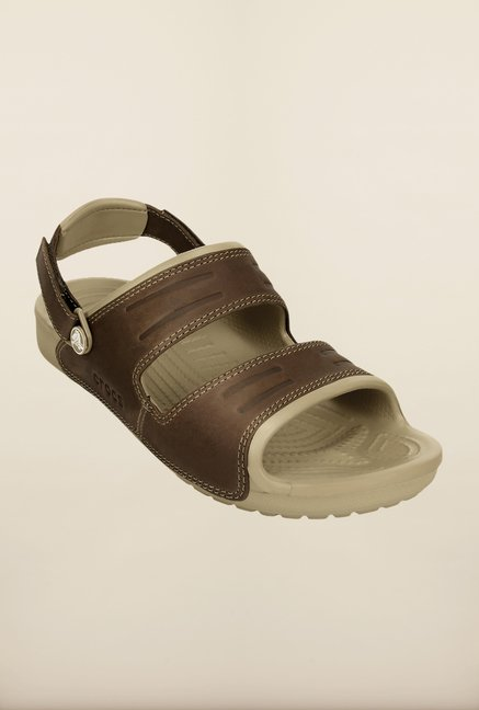 Crocs Yukon Espresso Floater Sandals