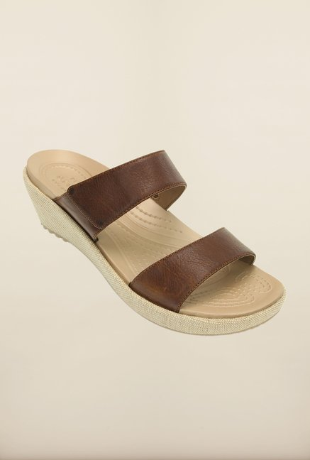 Crocs Leigh II Hazelnut Wedges
