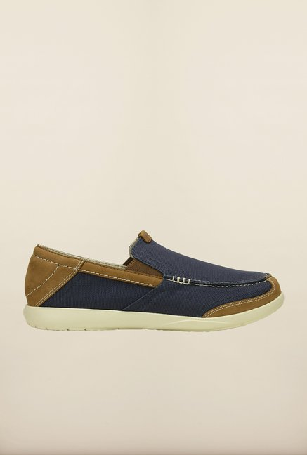 Crocs Walu Navy & Stucco Loafers