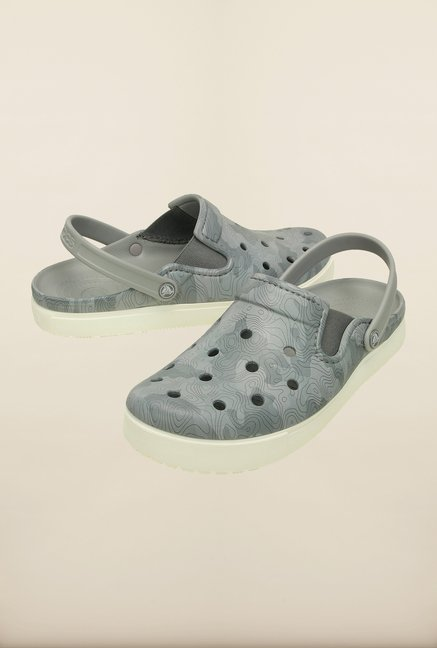 Crocs CitiLane Topographical Light Grey Clogs