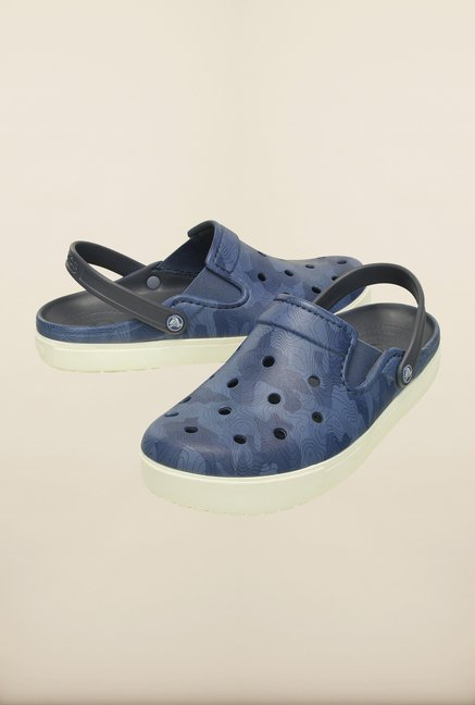 Crocs CitiLane Topographical Bijou Blue Clogs