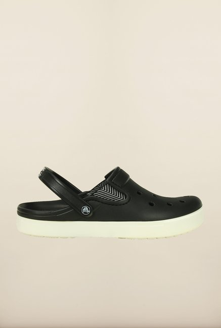 Crocs CitiLane Flash Black & White Clogs