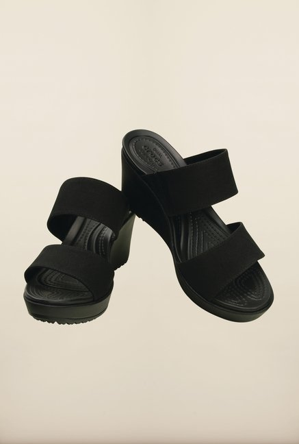 Crocs Leigh II Black Wedges