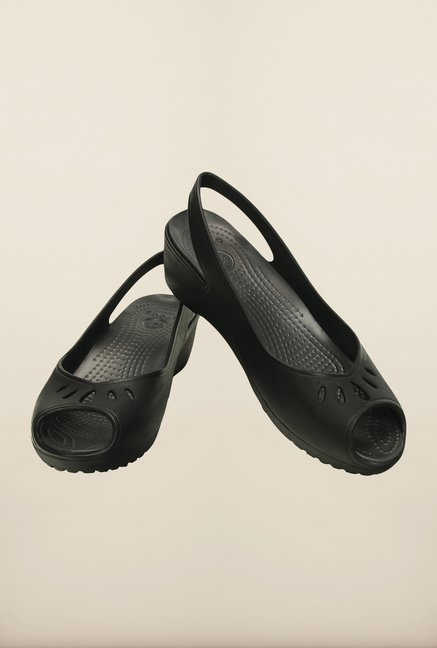Crocs Mabyn Mini Black Wedges