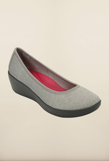Crocs Heathered Ballet Light Grey Pumps