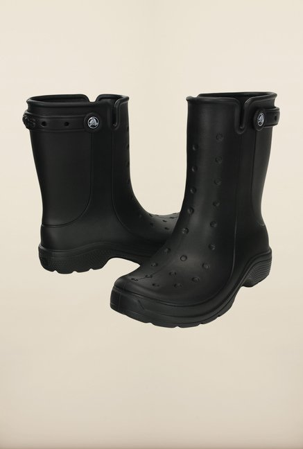 Crocs Reny II Black Booties