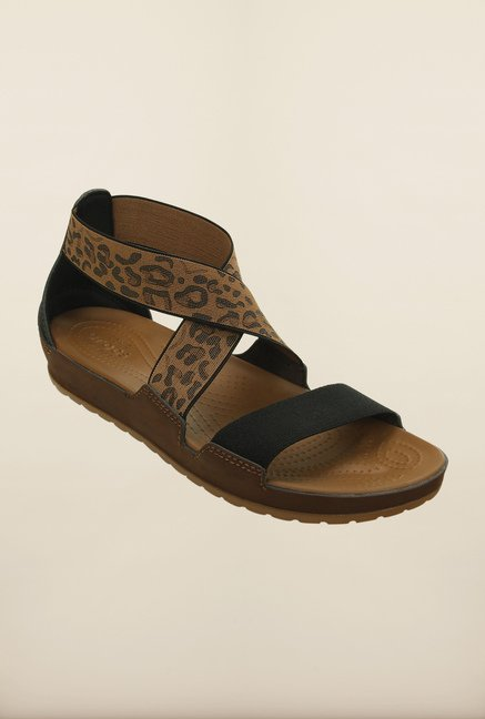 Crocs Anna Hazelnut Cross Strap Sandals
