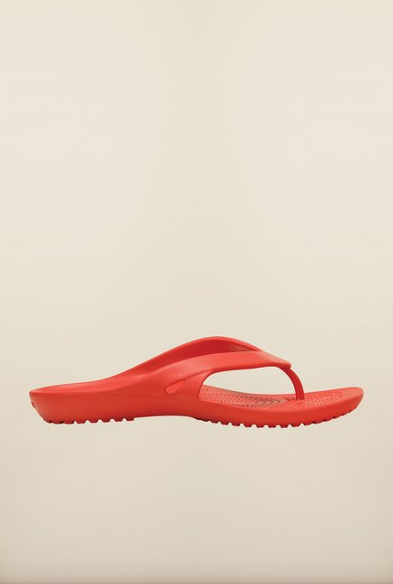 Crocs Kadee II Flame Red Flip Flops