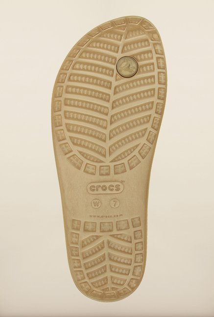 Crocs Sloane Light Brown Flip Flops