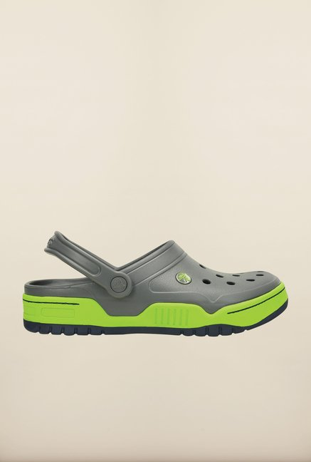 Crocs Front Court Grey & Green Clogs