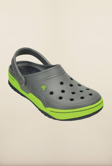 dba9e6270 Buy Crocs Front Court Grey & Green Clogs Online at best price at TataCLiQ