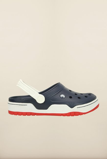 Crocs Front Court Navy & White Clogs