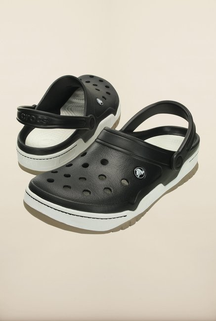 Crocs Front Court Black & White Clogs