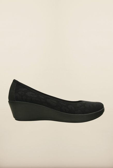Crocs Heathered Ballet Black Pumps