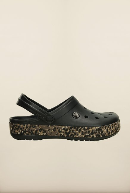 Crocs Crocband Leopard Black Clogs