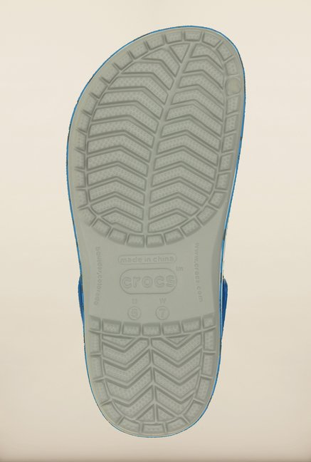 Crocs Crocband Fruit Light Grey & Blue Clogs