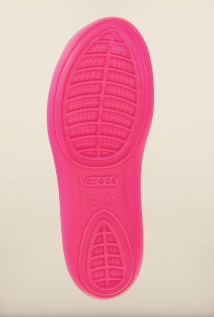 Crocs Taylor Candy Pink Sling Back Shoes